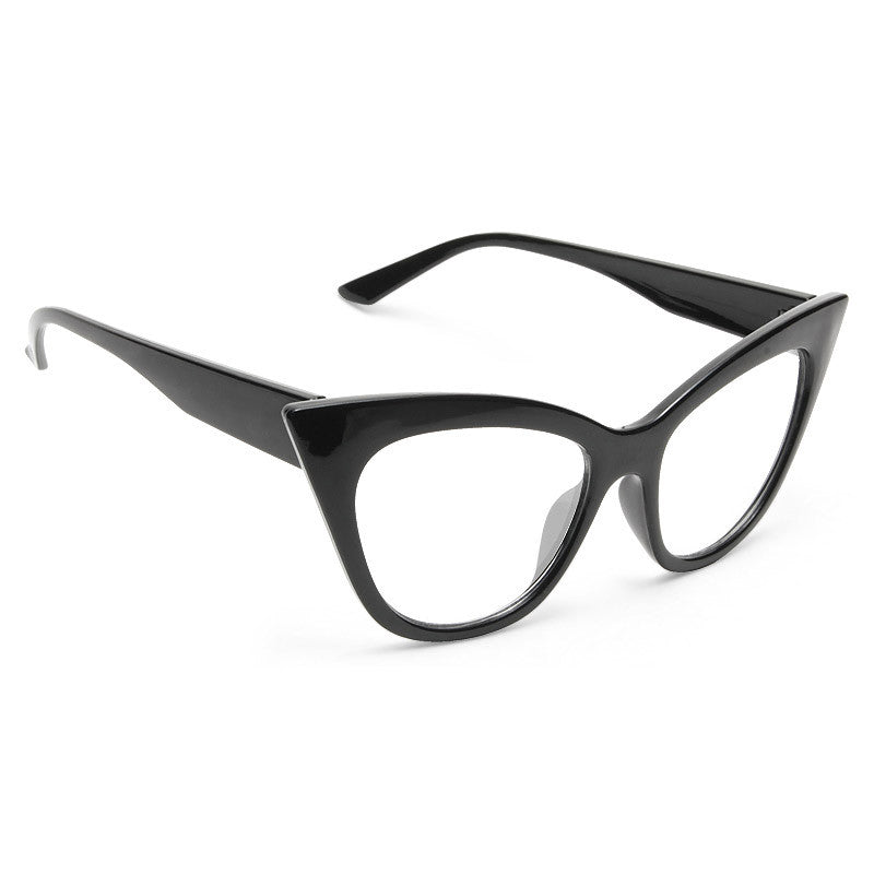 Taryn Pointed Cat Eye Clear Glasses
