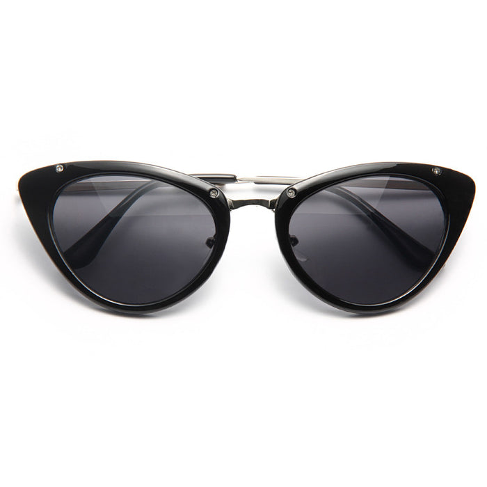 Lynx Thick Frame Cat Eye Sunglasses