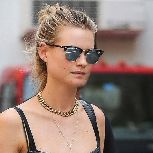 Behati Prinsloo Style Mirror Half-Frame Celebrity Sunglasses
