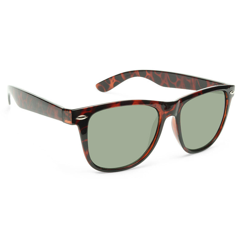 Powell X Large G 15 Green Lens Horn Rimmed Sunglasses
