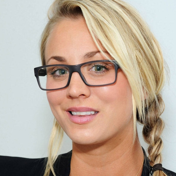Kaley Cuoco Style Slim Rectangular Celebrity Clear Glasses