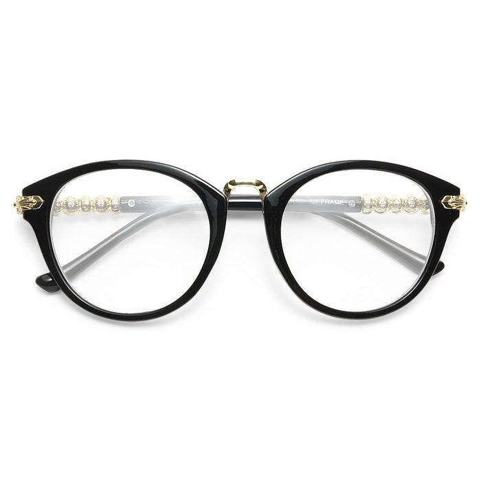 Greystone Metal Accent Rounded Clear Glasses