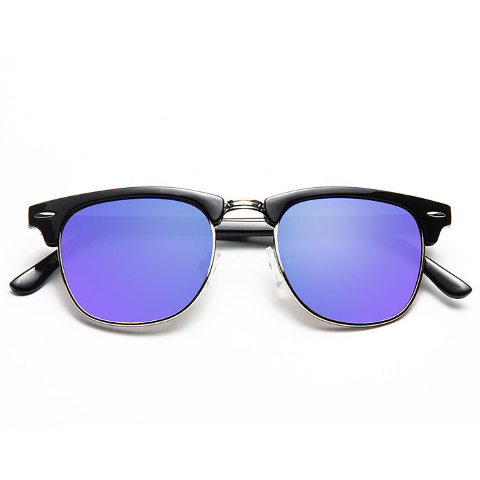 Peyton 3 Unisex Color Mirror Half Frame Sunglasses