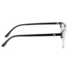 Peyton 3 Unisex Clear Frame Color Mirror Half Frame Sunglasses
