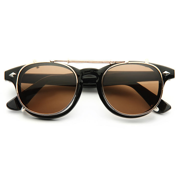 Halifax Unisex Convertible Horn Rimmed Sunglasses