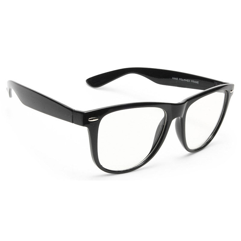 Powell Unisex Clear Horn Rimmed Glasses