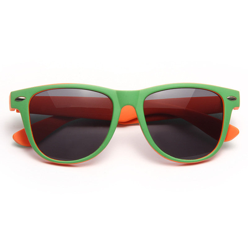 Dakota X Large Two Toned Rubber Coated Horn Rimmed Sunglasses