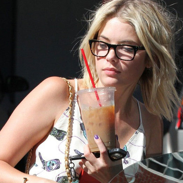 Ashley Benson Style Slim Rectangular Celebrity Clear Glasses