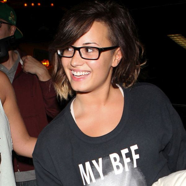 Demi Lovato Style Slim Rectangular Celebrity Clear Glasses