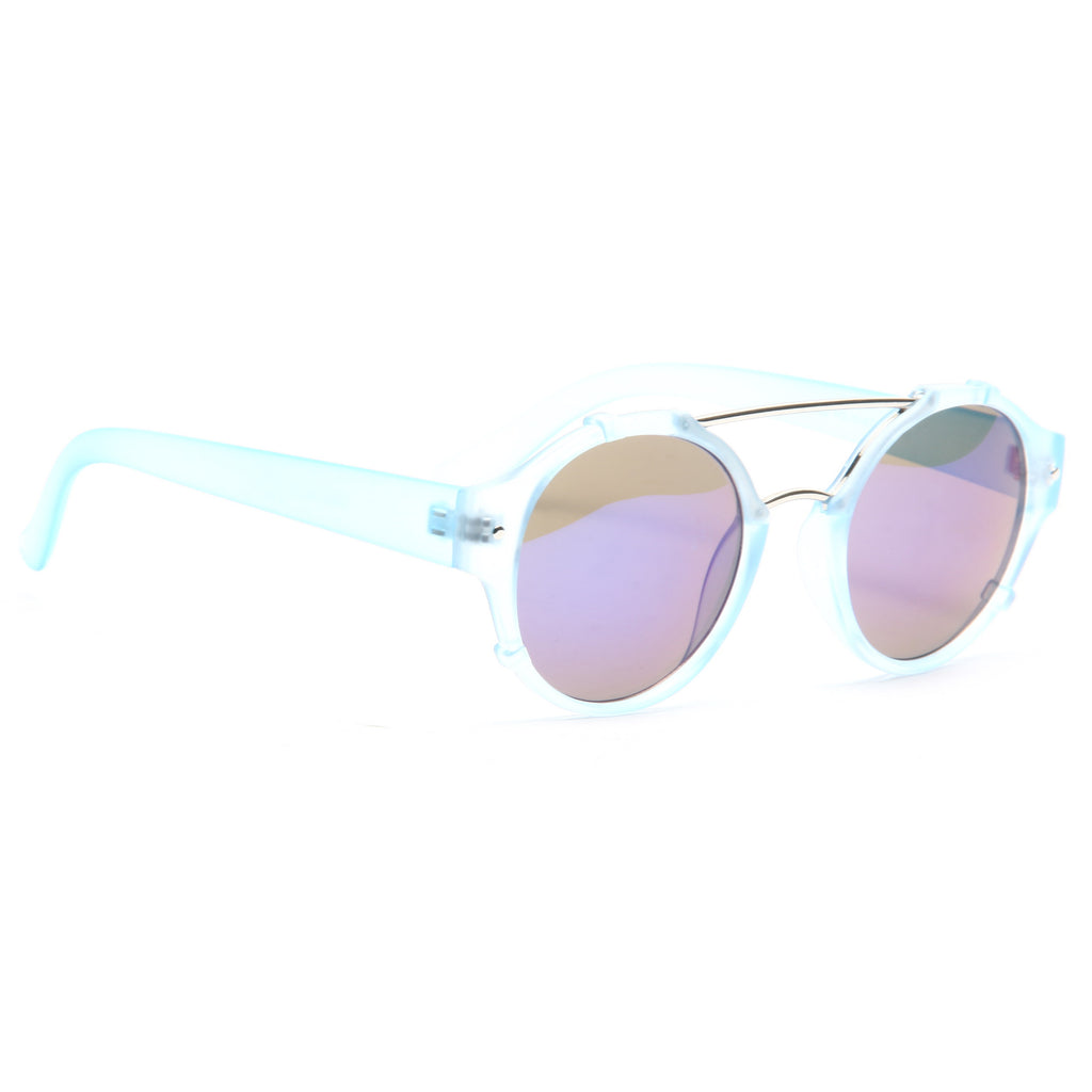 Blair Unisex Metal Bridge Rounded Clear Frame Sunglasses