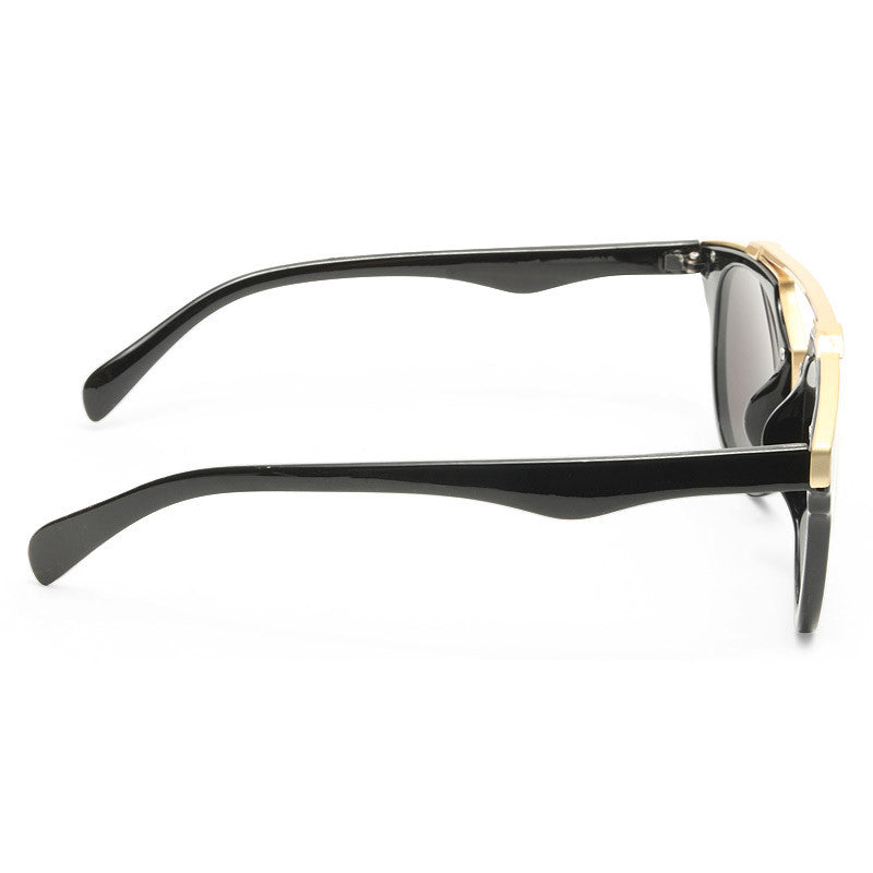 So Real Thin Bar Flat Top Clear Frame Sunglasses
