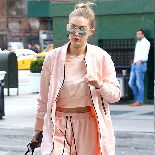 Gigi Hadid Style Thin Bar Flat Top Celebrity Sunglasses