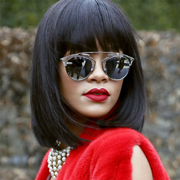 6bc9ebea313 Rihanna Style Thin Bar Flat Top Celebrity Sunglasses – CosmicEyewear