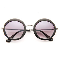 Baylor Oversized Thick Round Sunglasses