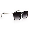 Chartreux 2 Half Frame Pointed Cat Eye Sunglasses