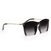Miley Cyrus Style Half Frame Pointed Cat Eye Celebrity Sunglasses