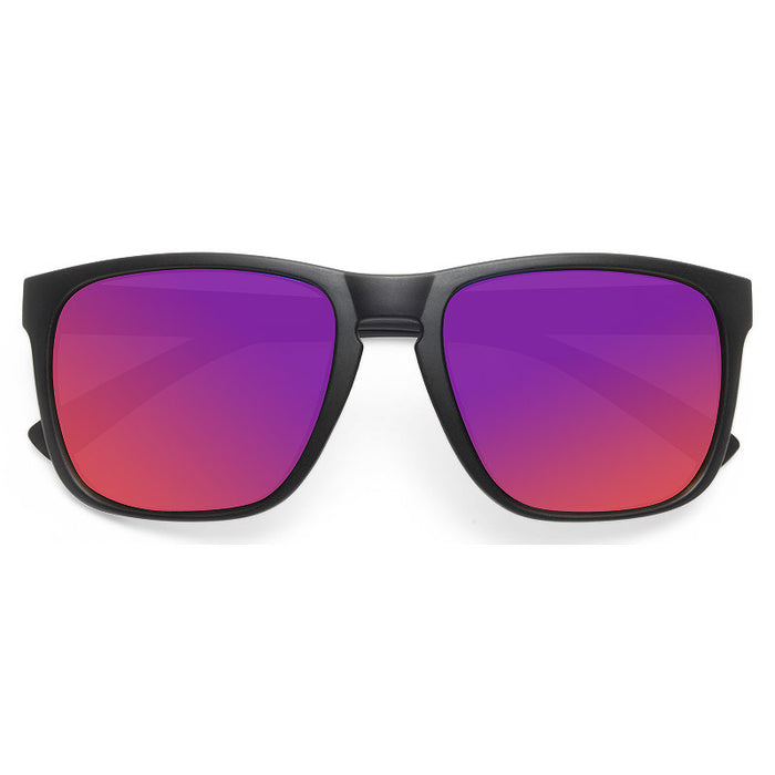 Oaklen Unisex Color Mirror Horn Rimmed Sunglasses