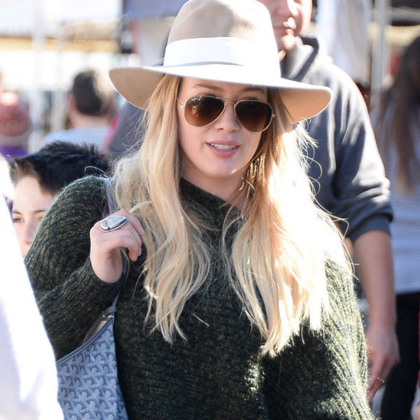 Hilary Duff Style 58mm Gradient Aviator Celebrity Sunglasses