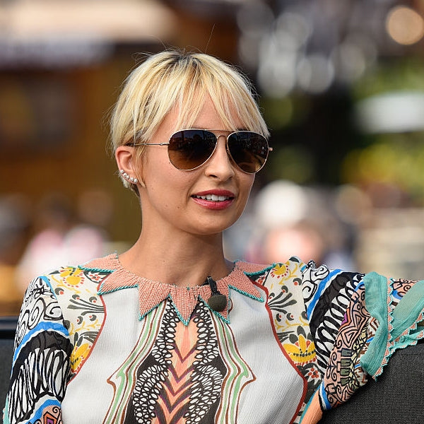 Nicole Richie Style 58mm Gradient Aviator Celebrity Sunglasses