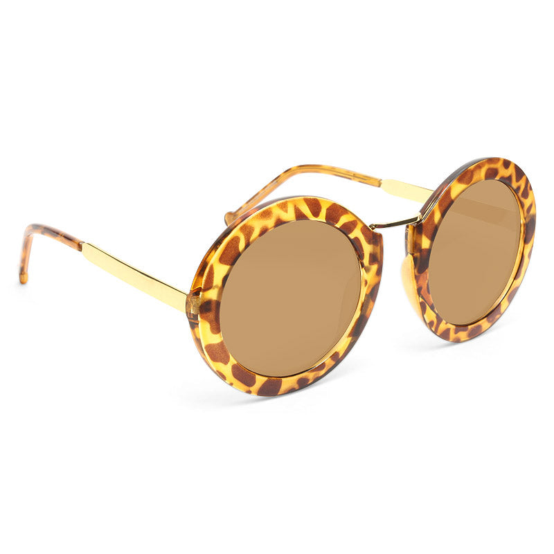Ryan Thick Frame Round Sunglasses