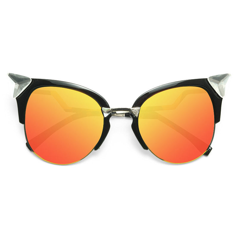 Iridia Designer Inspired Crystal Cat Eye Sunglasses