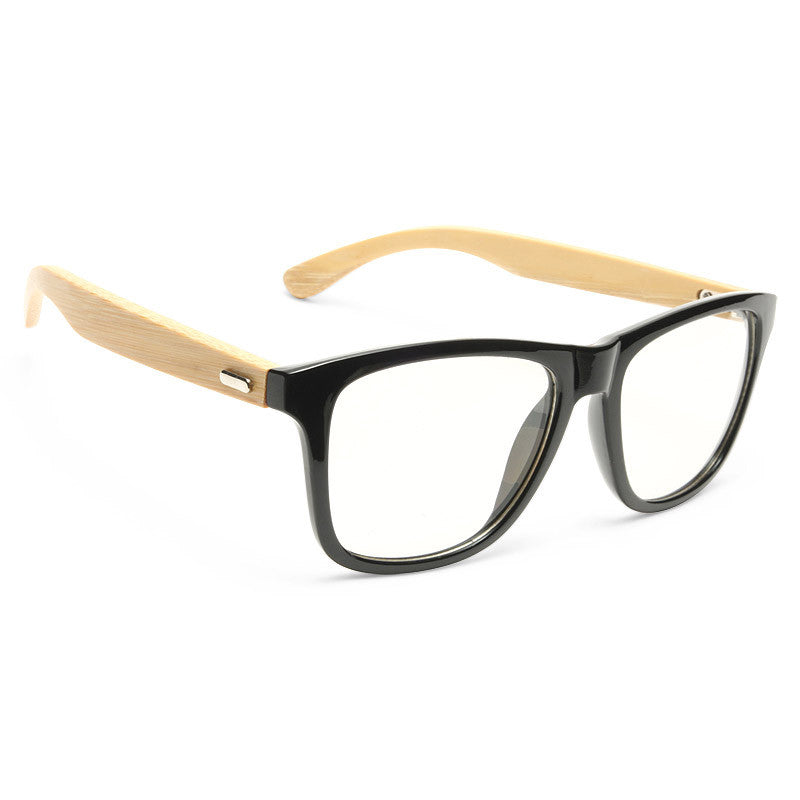 Ash Unisex Genuine Bamboo Clear Horn Rimmed Glasses