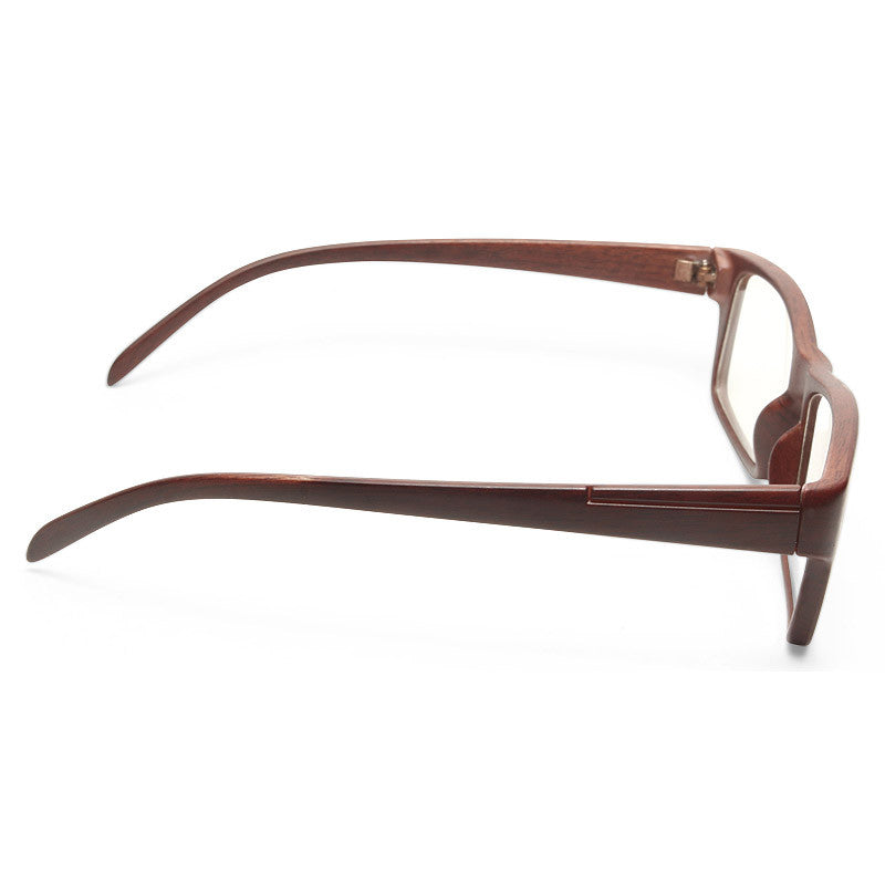 Melrose Skinny Squared Wood Grain Clear Glasses