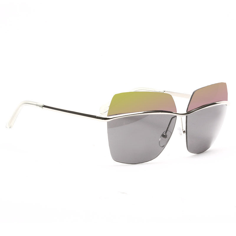 Metallic Designer Inspired Square Sunglasses