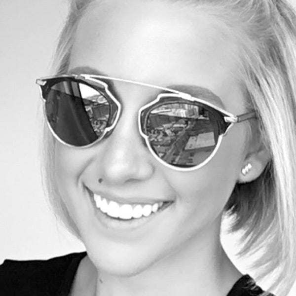 Savannah Chrisley Style Thin Bar Flat Top Celebrity Sunglasses