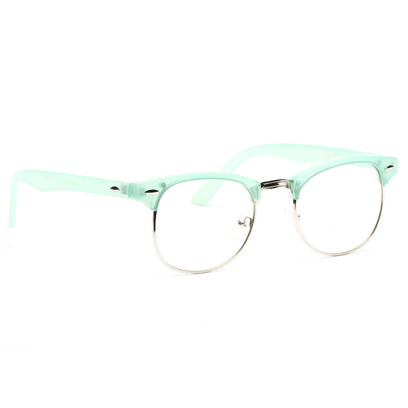 Peyton 2 Unisex Colored Half-Frame Clear Glasses