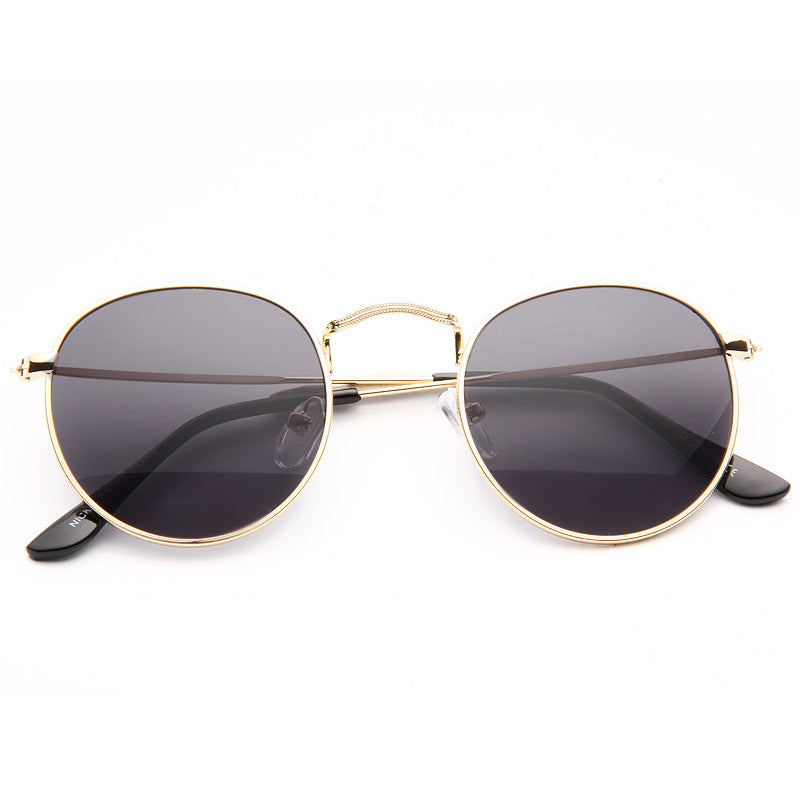 Miley Cyrus Style Metal Rounded Celebrity Sunglasses