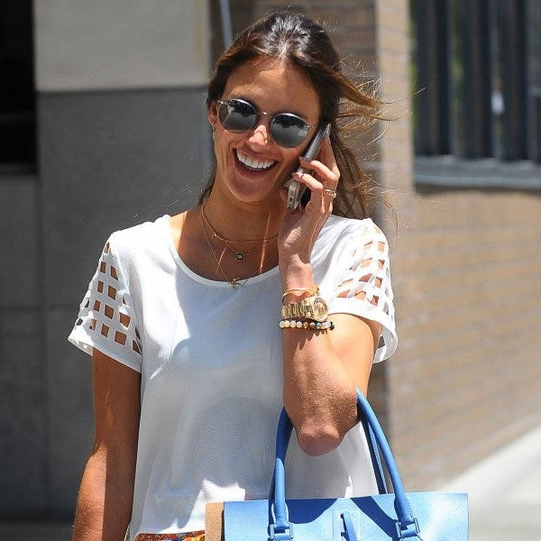Alessandra Ambrosio Style Metal Rounded Celebrity Sunglasses