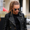 Cara Delevingne Style Metal Rounded Celebrity Sunglasses