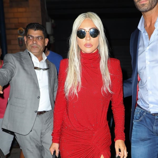 Lady Gaga Style Metal Rounded Celebrity Sunglasses