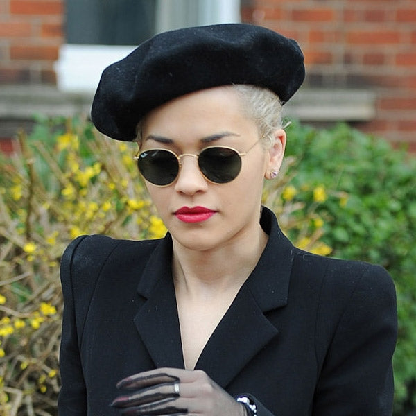 Rita Ora Style Metal Rounded Celebrity Sunglasses