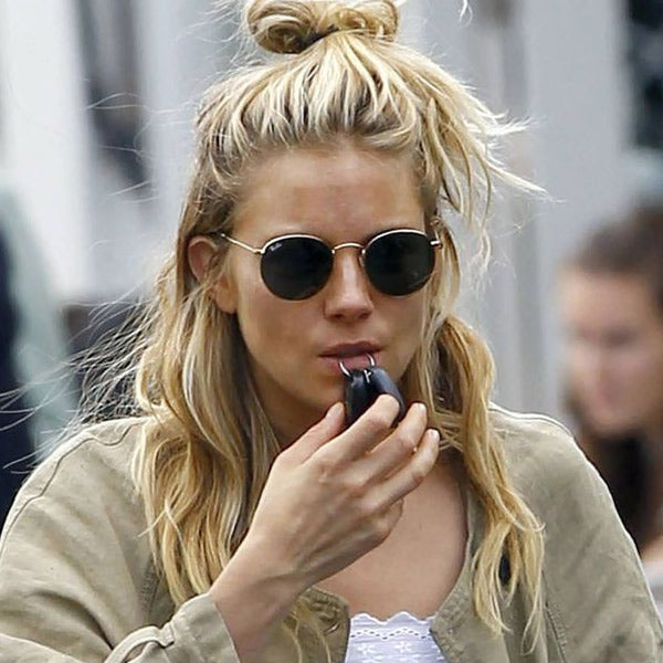 Sienna Miller Style Metal Rounded Sunglasses