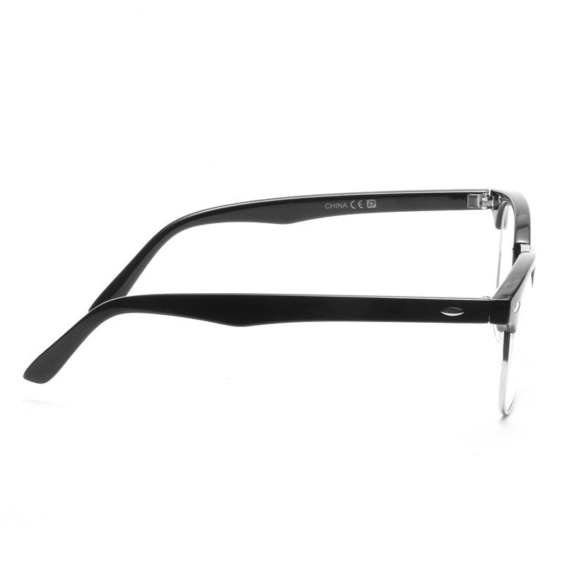 Elliot Unisex Metal Clear Half-Frame Glasses