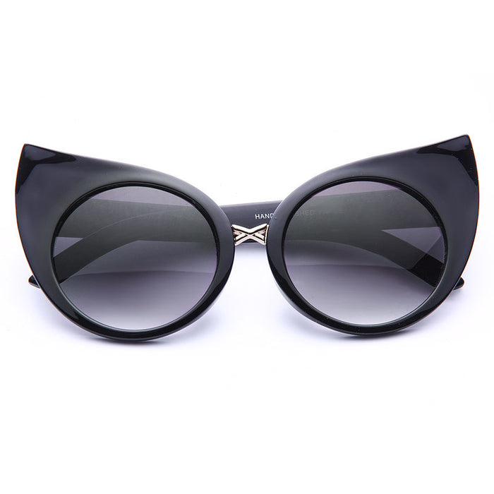 Crookshanks Oversized Curved Cat Ear Sunglasses