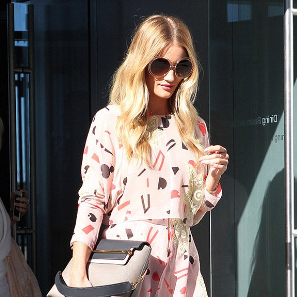 Rosie Huntington-Whiteley Style Round Split Tint Sunglasses