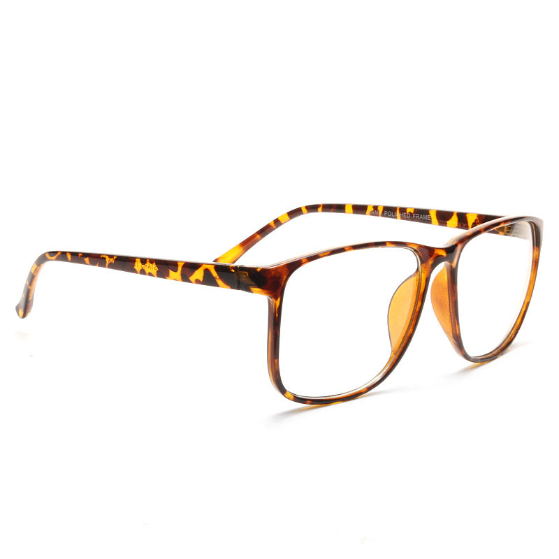 Leighton Thin Frame Clear Horn Rimmed Glasses
