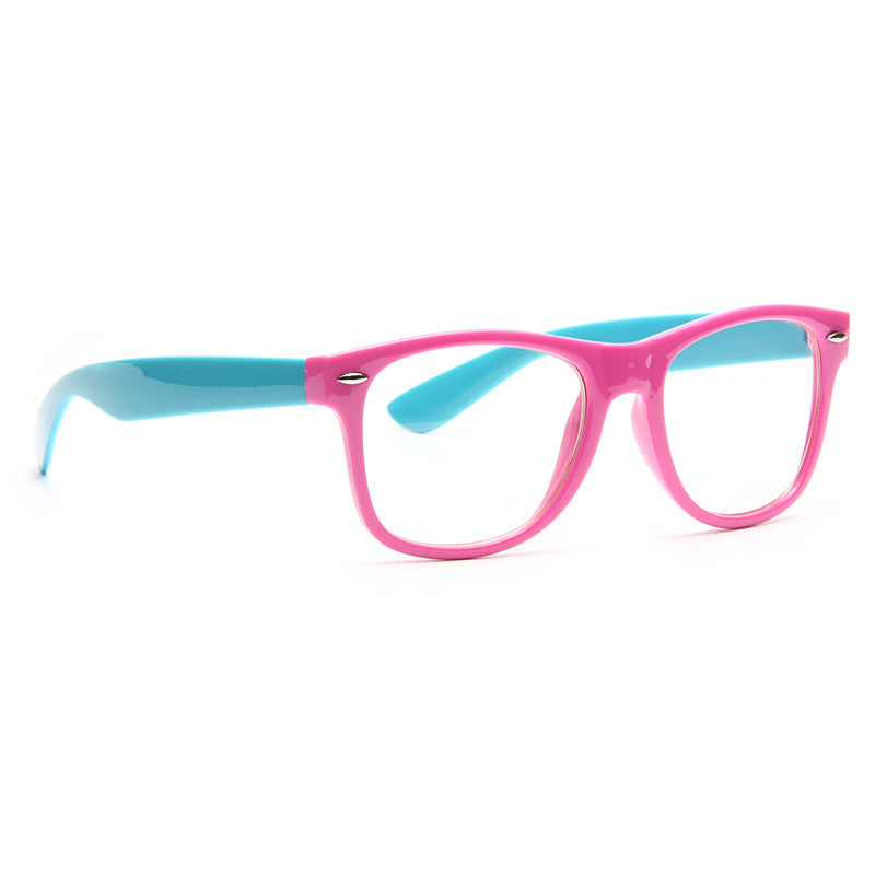 Jordyn Unisex Two Toned Clear Horn Rimmed Glasses