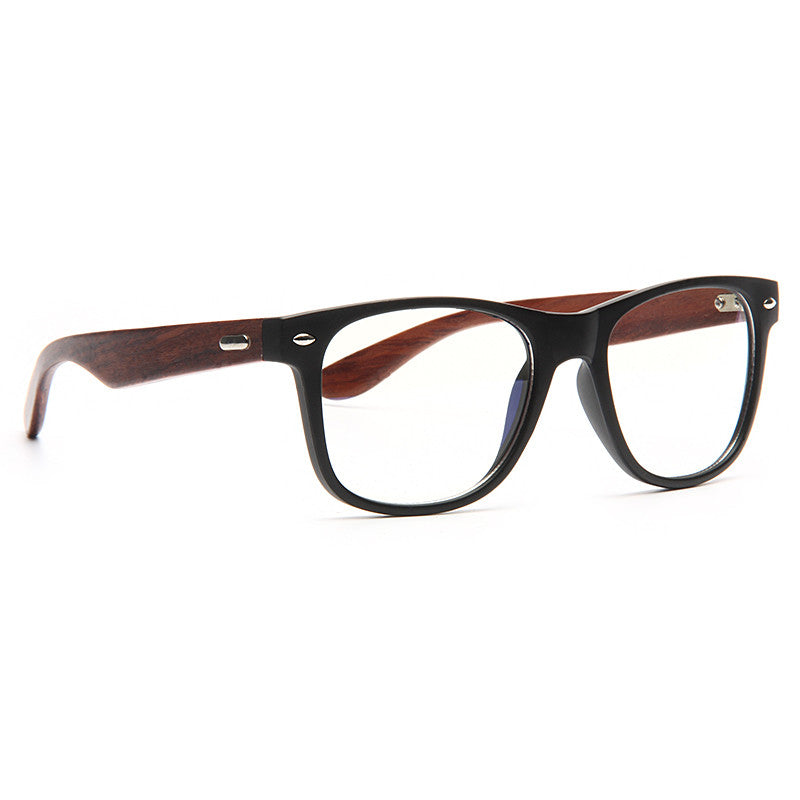 a4550d668c658 Jude Large Genuine Wood Clear Horn Rimmed Glasses – CosmicEyewear