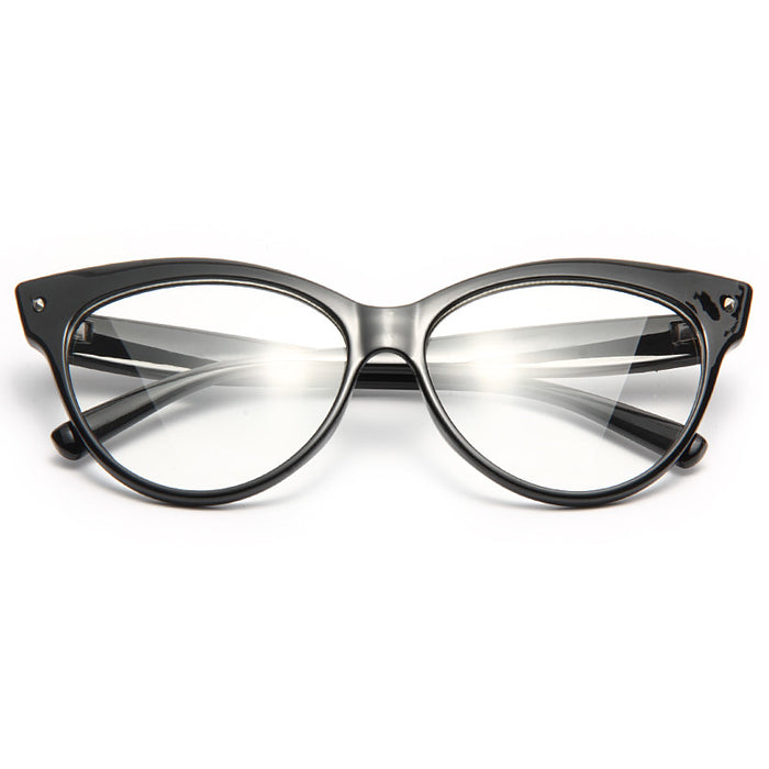 Iris 2 Oversized Cat Eye Clear Glasses