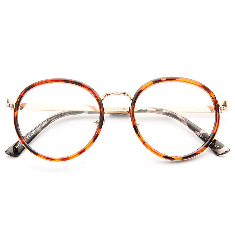 Charlotte Thin Round Metal Accent Clear Glasses