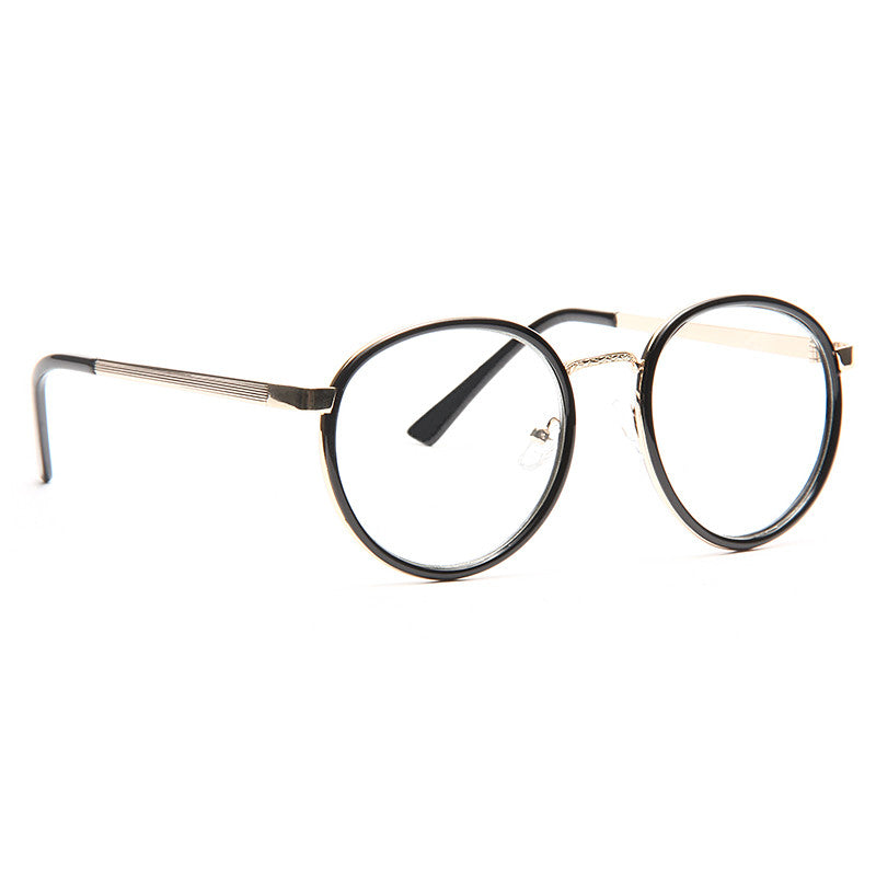 Charlotte Thin Round Metal Accent Clear Frame Clear Glasses