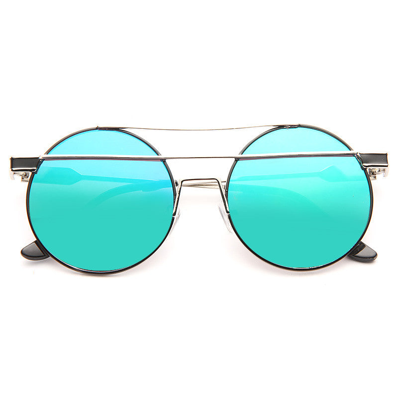 Danny Color Mirror Round Metal Sunglasses
