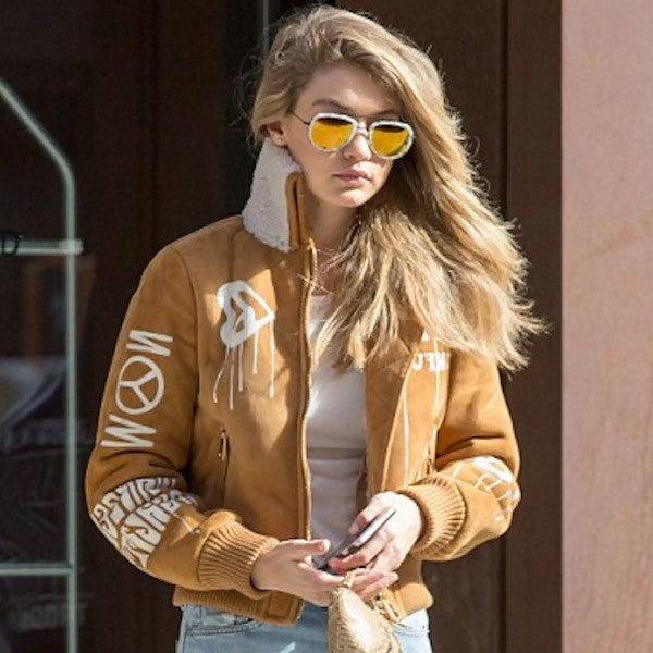 Gigi Hadid Style Oversized Color Mirror Aviator Celebrity Sunglasses