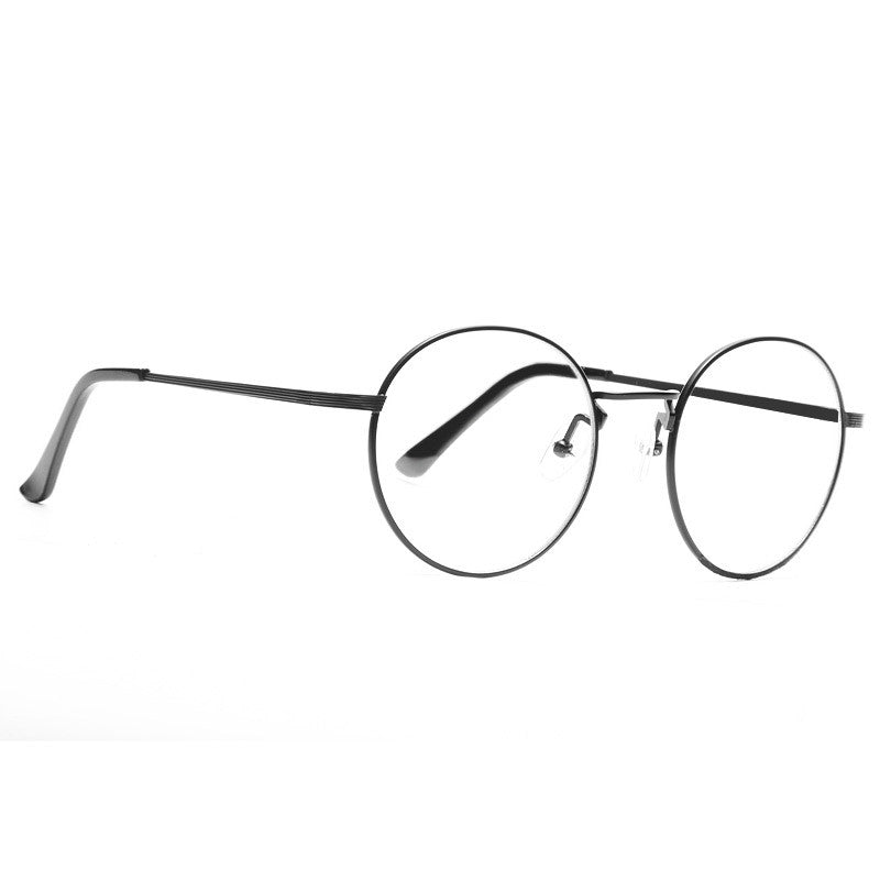 Kendall Jenner Style Metal Round Celebrity Clear Glasses