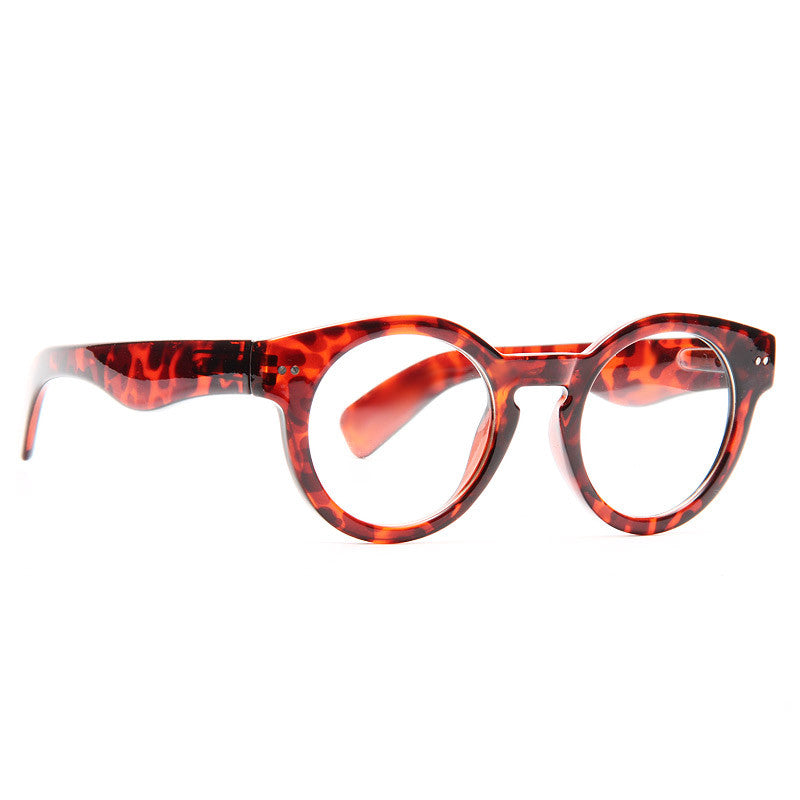 Laredo Thick Frame Round Clear Glasses