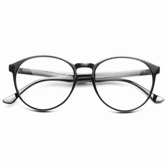 Grafton Rounded Horn Rimmed Clear Glasses
